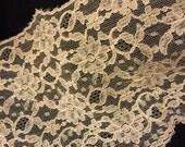 3 Yards Vintage 5 1/2 Inch Wide Net Lace Trim