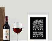A nice drop of wine wall art print - A5 poster size