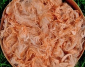 Suri Alpaca Fiber, 5 1/2 Inches, Madder Orange, Hand-Dyed, 2 Ounces, Ariella