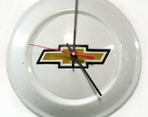 1972 - 1973 Chevrolet LUV Truck Hubcap Clock - Chevy Hub Cap Wall Decor