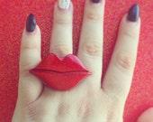 Vixen Lips Ring (Adjustable) - SALE
