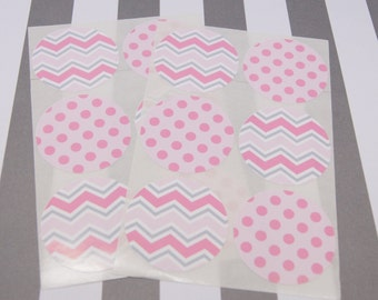 Stickers Envelope Seals Pink Stickers Chevron Dots Calendar Stickers Reminder Stickers  SES238 Fits Erin Condren