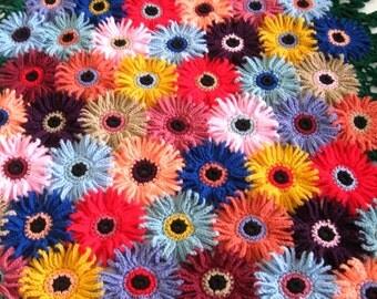 Made to Order Aster blanket Afghan Handmade, Hand crocheted afghan / throw / blanket.