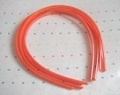 Orange Skinny Plastic Headbands (4)