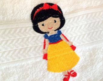 Snow White Inspired Princess Bath Towel
