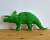 Plush Triceratops Pillow