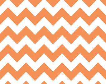 Orange Medium Chevron Fabric by Riley Blake Designs - By the Yard - 1 Yard