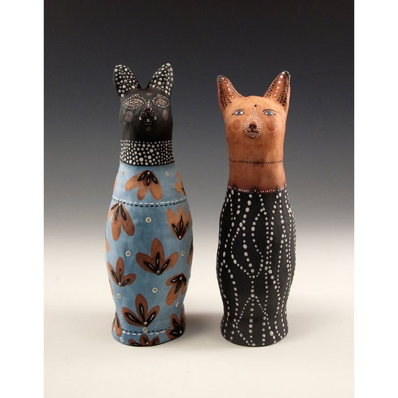 Cool Set Cat Salt And Pepper Shakers By Jenny By Jennymendes