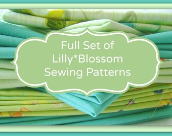 Full set of LillyBlossom PDF Sewing Patterns