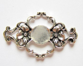 6 Jewelry connectors antique silver connector links filigree jewelry findings  B3134-YY2