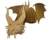 Nikita - Large Cardboard Dragon Head - Brown