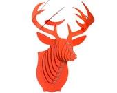 Buck Jr - Medium Cardboard Deer Head - Hunter Orange