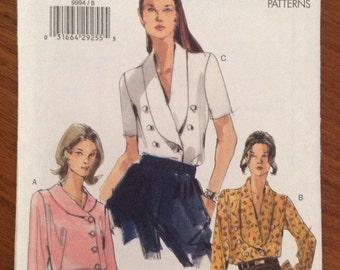 Vogue 9994 Shawl Collar Blouse