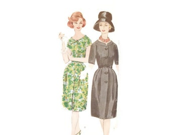 Vintage 1952 Vogue Coat Dress Pattern 5112 size 14