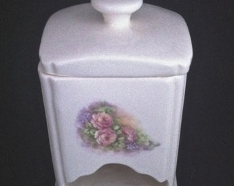 White Porcelain Tea bag Holder/Dispenser, Tea Related Items, Collectible Tea, Vintage Tea Dispenser, Tea, Vintage Tea, **USA ONLY**