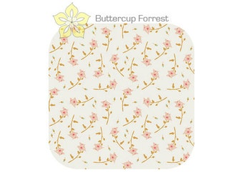 Crib Sheet { Reminisce Freshly Picked Sherbet } Peach Coral Vintage Floral