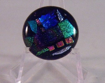 Dichroic Fused Glass Cabochon, Small