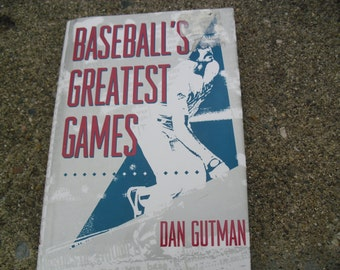 Vintage Book Baseball's Greatest Games
