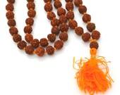 Rudraksha Mala, 108 Beads, 1 String, 8mm, Dried Seed Beads,   Rudraksha Beads,  Mala -B526
