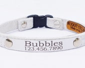 Personalized Suede Cute Cat Collar with Breakaway Buckle by Ruggit Collars