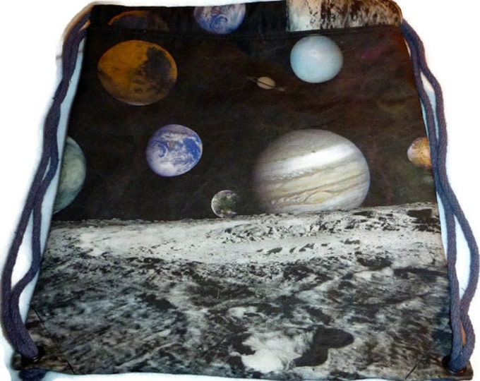 Solar System Backpack/tote or Tote/Purse - Cotton CanvasCustom Print made to order