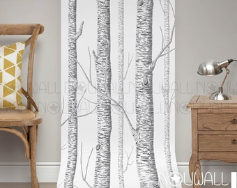 Birch Tree Peel & Stick Removable Wallpaper - wall decal - wall sticker