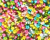 200 pcs tiny star buttons for sewing crafts size 4mm mix pastel color