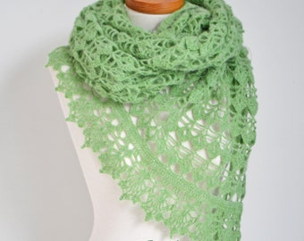 BELLA, Crochet shawl pattern pdf