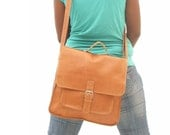 Messenger bag for  Women  light  Brown Leather BACK TO SCHOOL leather handbag  laptop bag Leather bag