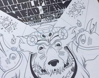 Original Ink Illustration - Brilliant Mind Gig Poster