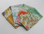 Fabric Napkin Set, Cloth Napkins, Reusable Napkin Set, Vintage Floral, Handmade by Knotted Nest