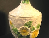Retro Daisy Cookie Jar, Rubens Original 1968, 1960s, TheRetroLife