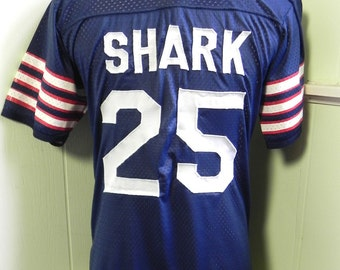Vintage Shirt Mens Cool Sport Football Jersey with SHARK Hawaiian Man Beer Can Cat M - on sale