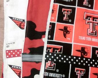 BurpCloth Set...Texas Tech Raiders