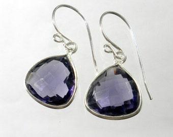 Amethyst Drop Earring, Purple Amethyst Earring, Amethyst Jewelry, February Birthstone