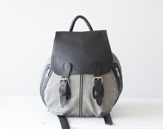 rucksack damen grau