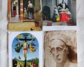 vintage art postcards, dutch and religious art