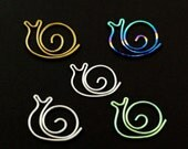 Sam and Sally the Snail Charms - Hand Forged and Anodized Niobium