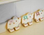 Mehndi Elephant Cookies - 12 cookies