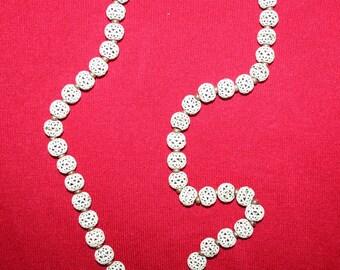 Vintage Monet 1960's white Filigree Bead Necklace