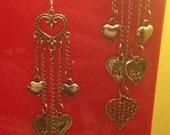 Hearts Dangle Earrings