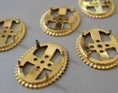 Vintage Gold Plated Oval Prong Settings 22mm x 30mm