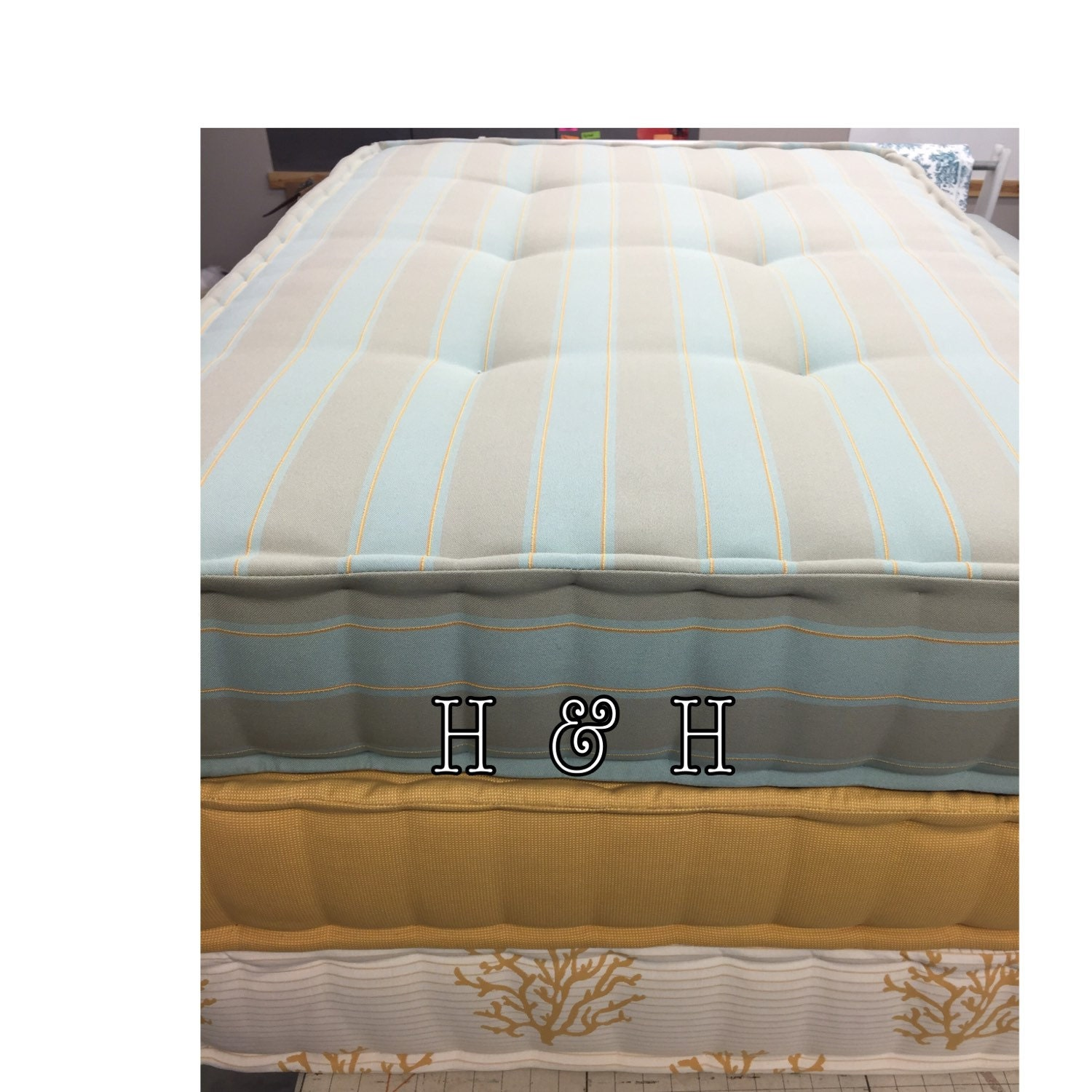French Hand Tufted Mattress Window Seat Cushion French