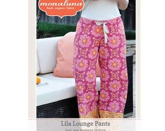 Lila Lounge Pants Pattern, by Monaluna