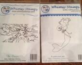 The PRAYER or MERMAID Mimi - New Whimsy Rubber Stamps! Little girl, women, princess, faith, swim