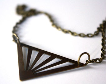 Triangle Sunburst Necklace