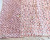 Cutter Hand Made Quilt 68 W x 78 L Pink