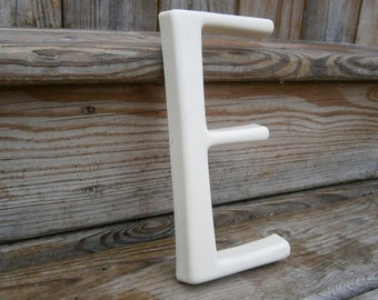 Salvaged Plastic Wall Letter - E - Wedding - Baby Room