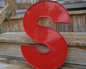 Industrial Plastic Letter - S - Salvaged Letter - Marquee Letter