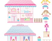 ON SALE doll house clip art clipart Digital clipart, Doll house, rag doll clipart, Instant download